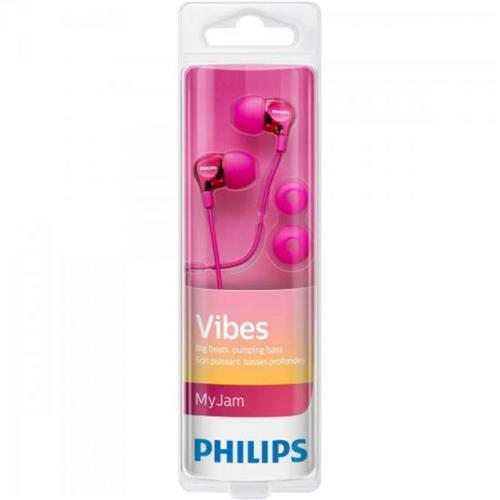 Fone com Microfone Philips Vibes - Rosa