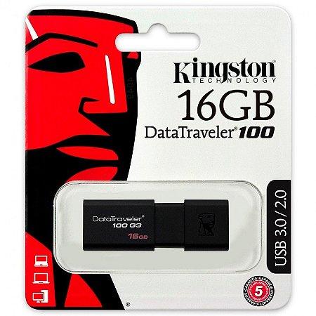 Pen Drive Kingston DT100 16GB USB 3.1/3.0/2.0