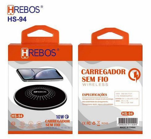 Carregador Hrebos - Sem Fio - Indução - HS-94