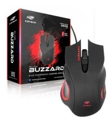 Mouse USB Gamer - Buzzard MG-110BK - C3Tech