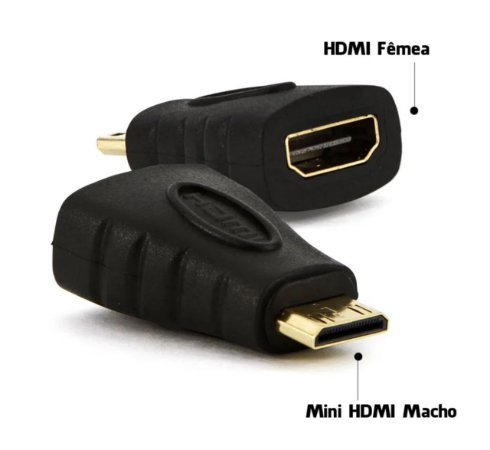Adaptador HDMI x Mini HDMI Macho