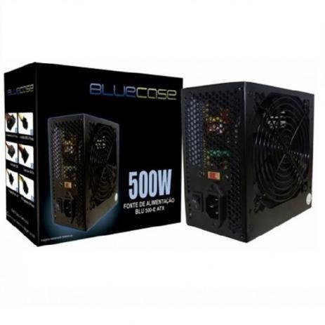 Fonte ATX 500W - BlueCase - Com Cabo