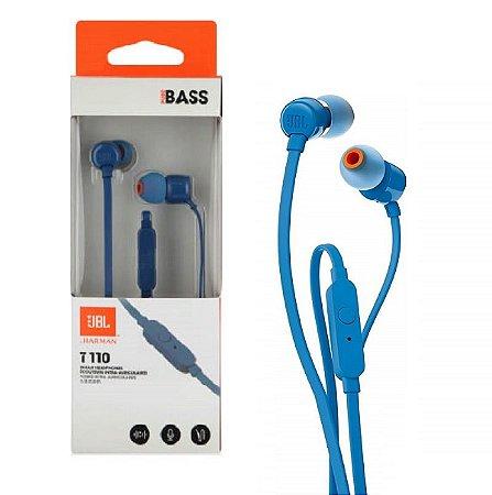 Fone De Ouvido Jbl In Ear - T110 Azul