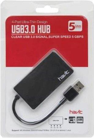 HUB USB 4 Portas 3.0 - Havit HV-H103