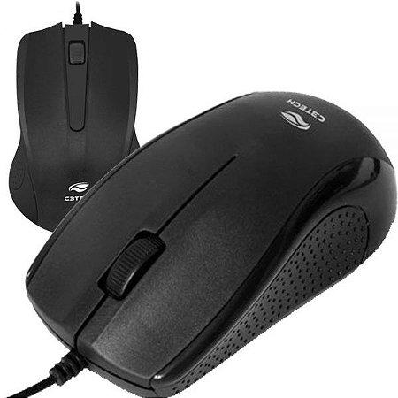 Mouse USB MS-25BK - Preto - C3Tech