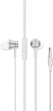 Fone De Ouvido Com Fio Xiaomi MI IN-Ear Basic - HSEJ03JY - Prata