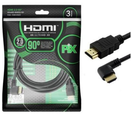Cabo HDMI para HDMI - 3M - 90° - PIX
