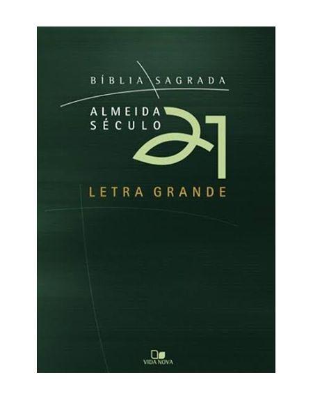BÍBLIA A21 LETRA GRANDE - VERDE C/ CAPA CRISTAL