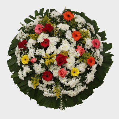 Coroa de Flores Cemitério Girassois