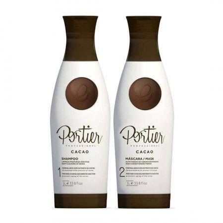 Kit Portier Cacao Escova Progressiva Kit 1L