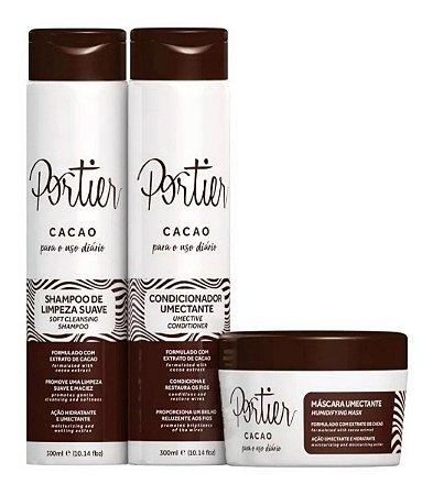 Portier Cacao Uso Diário - Kit Completo 3 PRODUTOS