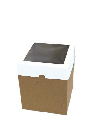 Caixa mista com visor MVB15 (15x15x18 cm) - embalagem com 10
