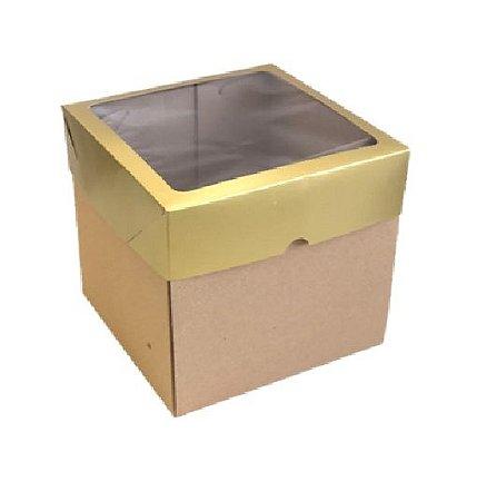 Caixa mista com visor MVB20 (20x20x20 cm) - embalagem com 10
