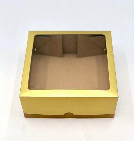 Caixa mista com visor MVT20 (20x20x8 cm) - embalagem com 10
