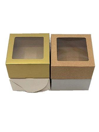 Caixa com visor VC11 (11x11x6 cm) - embalagem com 20