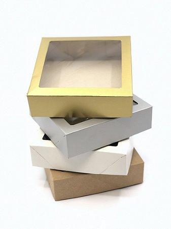 Caixa com visor VC15 (15x15x4 cm) - embalagem com 20