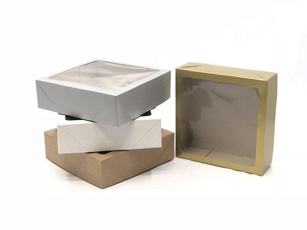 Caixa com visor VC20 (20x20x6 cm) - embalagem com 20