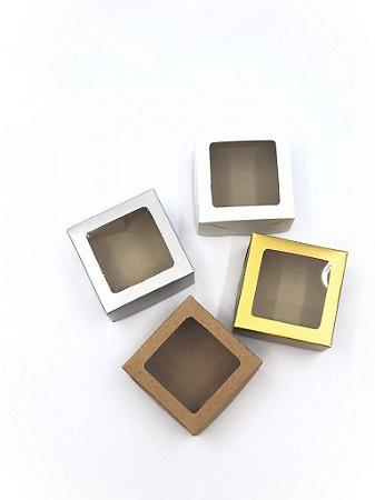 Caixa com visor VC7 (7x7x4 cm) - embalagem com 20