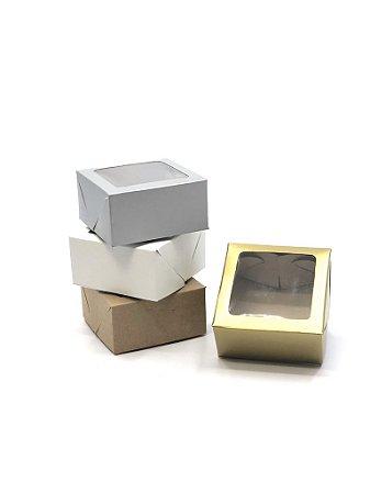 Caixa com visor VC8 (8x8x4 cm) - embalagem com 20