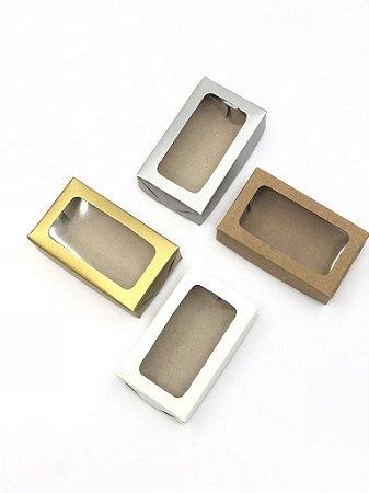 Caixa com visor VR1 (7,5x4,5x2 cm) - embalagem com 20