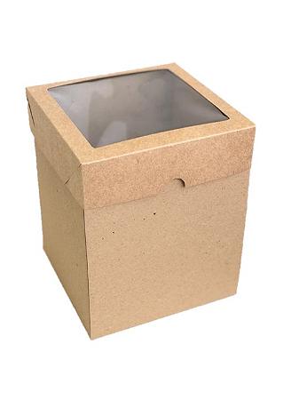 Caixa mista com visor MVB15 (15x15x18 cm) - embalagem com 20