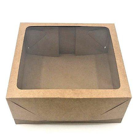 Caixa mista com visor MVT20 (20x20x8 cm) - embalagem com 20