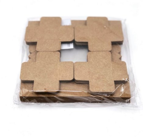 Kit de caixa com visor VC7 (7x7x4 cm) para 4 doces/brigadeiros/bombons com 80 forminhas - embalagem com 20