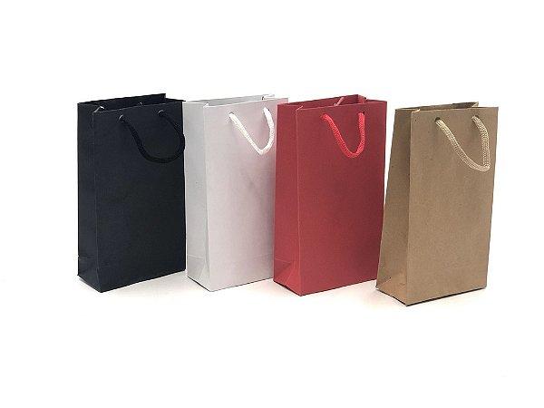 Sacola com alça de cordão PE (18x10x5 cm) - embalagem com 10