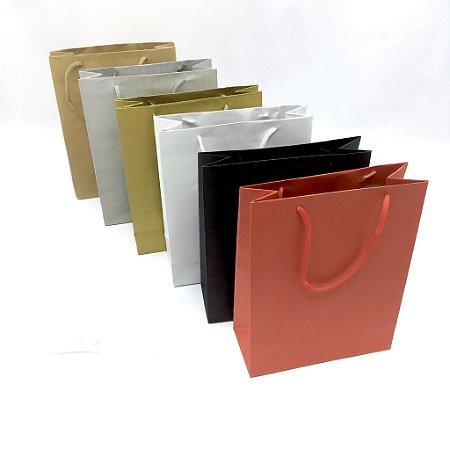 Sacola com alça de cordão SC3 (25x20x8 cm) - embalagem com 10