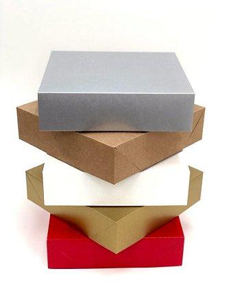 Caixa sem visor C25 (25x25x6,5 cm) - embalagem com 20