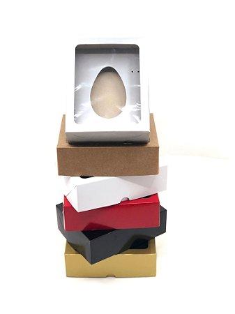 Kit caixa VR7 (19x15x6 cm)  para Ovo de Páscoa de colher + berço 250g - embalagem com 20