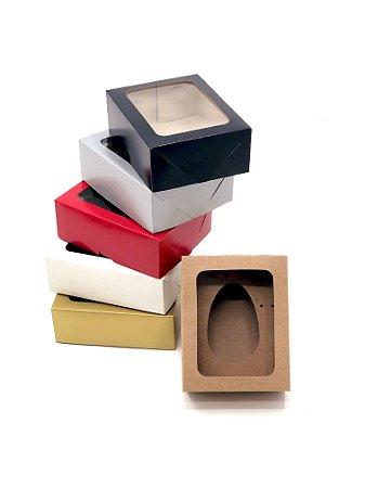 Kit caixa VR5 (14x11x5 cm)  para Ovo de Páscoa de colher + berço 1x100g - Embalagem com 20