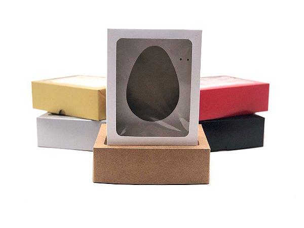 Kit caixa VR7 (19x15x6 cm)  para Ovo de Páscoa de colher + berço 350g - Embalagem com 20