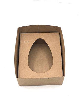 Kit caixa mista MVR10 (24x19x10 cm)  para Ovo de Páscoa de colher + berço 500g - Embalagem com 20