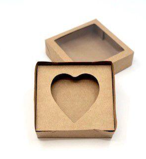 Kit caixa VC15 (15X15X4 cm)  para Ovo de Coração de colher + berço 200g - Embalagem com 20