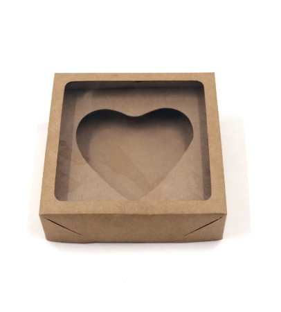 Kit caixa VC20 (20X20X6 cm)  para Ovo de Coração de colher + berço 500g - embalagem com 20