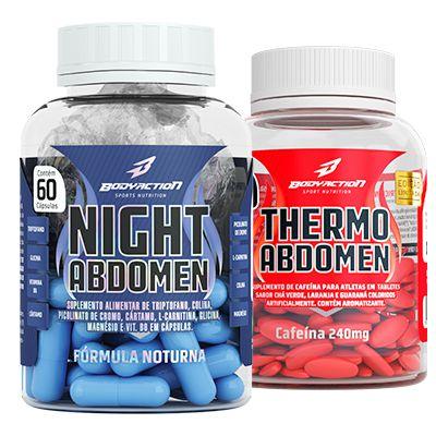 Kit Emagrecedor 24h , Thermo Abdomen + Night Abdomen