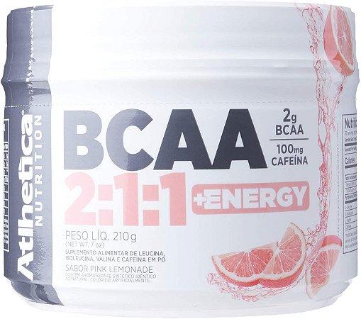 Bcaa 2: 1: 1 + Energy - 210g Pink Lemonade - , Athletica Nutrition