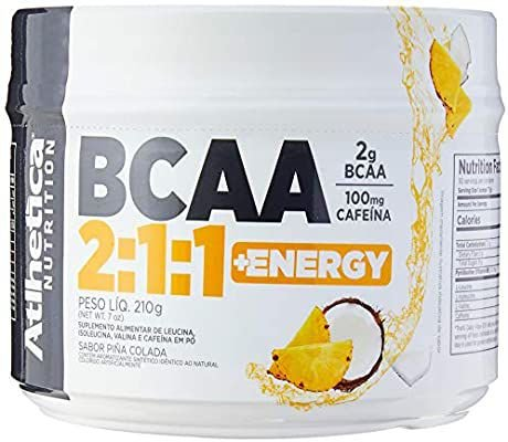 Bcaa 2: 1: 1 + Energy - 210g Pinã Colada- , Athletica Nutrition