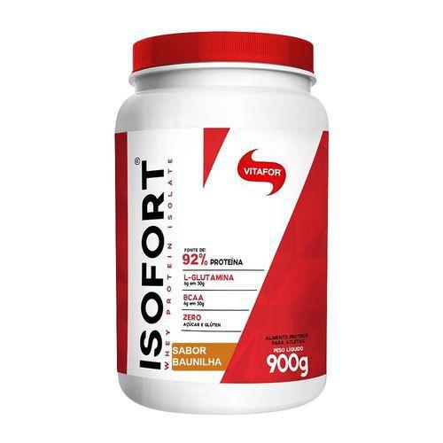 isofort 900g baunilha - whey protein isolado - vitafor
