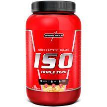 Whey protein isolate ISO Triple zero. Sabores: morango e chocolate
