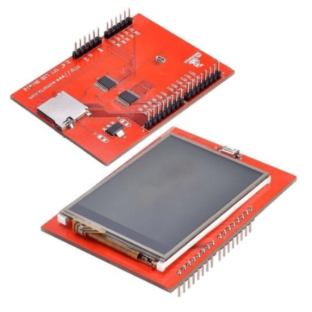"Display LCD TFT 2.4"" Shield Touchscreen Para Arduino"