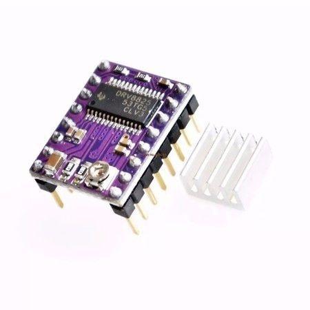 Driver Drv8825 Com Dissipador De Calor Impressora 3d Reprap