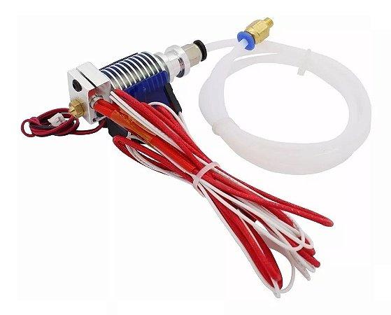 Hotend V6 1.75mm - Bico 0.4 - 12v + Cooler 30x30 Completo