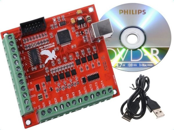 Interface Controladora 4 Eixos Usb Para Mach3, Cnc, Plasma