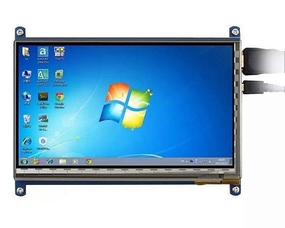 Kit Tela Lcd Touch Screen 7 Polegada 800x480 Para Raspberry