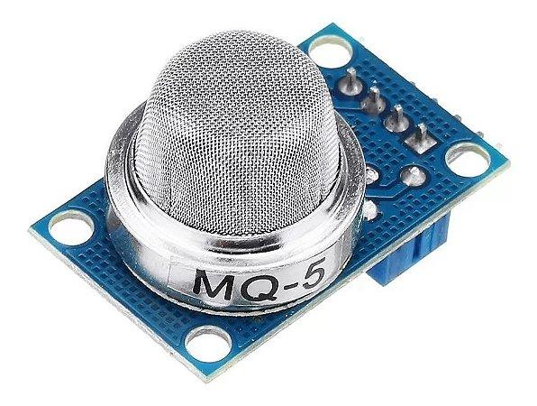 Sensor de Gás MQ-5 - GLP (Gás de Cozinha) e Gás Natural Para Arduino