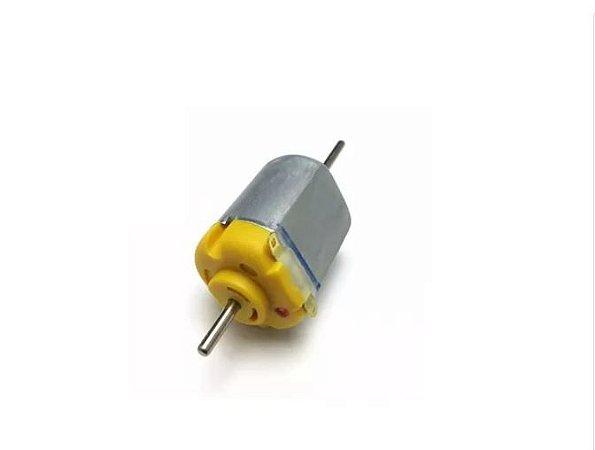 MICRO MOTOR 130 COM EIXO LONGO/DUPLO 1.5 3V