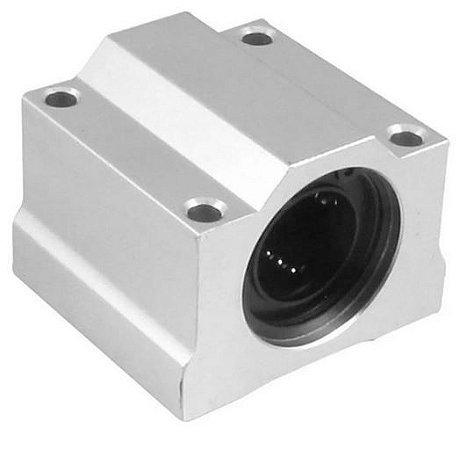 PILLOW BLOCK 20MM COM ROLAMENTO LINEAR SCS20UU CNC 3D