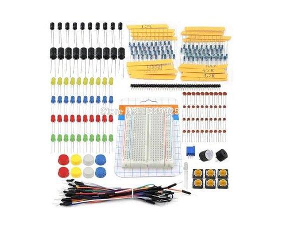 Kit de componentes Eletronicos para Arduino 190pçs